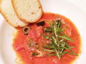 メカジキのトマトソース煮
