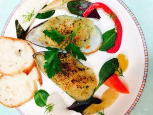 パーナ貝のオーブン焼き