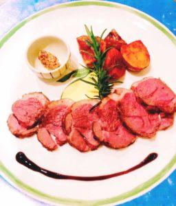 クリスマスコース肉料理
